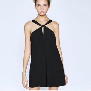 NWT Zara Black Romper Open Back Size Medium